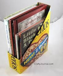 Magazine Holder From Cereal Box Cereal Box Magazine Holder 4