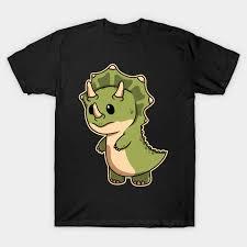 Baby <b>Dinosaur Cute</b> And Cuddly <b>Triceratops</b> Dino Animals T-Shirt