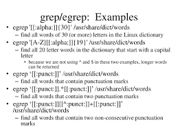 grep egrep Examples egrep [[ alpha ]] 30} usr share dict words
