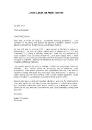 Best Ideas Of Math Teacher Cover Letter Sample Fabulous Math Teacher