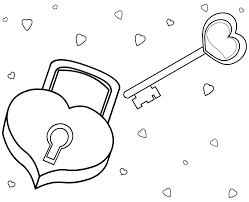 Small Picture Love coloring pages padlock and key ColoringStar