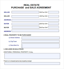 Real Estate Purchase Agreement Template - Www.communityharvest.us