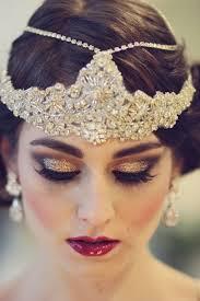 the great gatsby bridal shoot orchard makeup