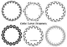 かわいい手描きの愛のフレームfree イラスト無料デザイン用壁紙 素材