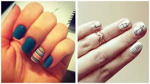 42 Most Beautiful Geometric Nail Art Design Ideas