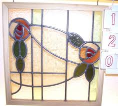 antique english stained glass window 1 of 1only 1 available