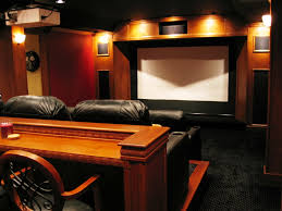 movie room furniture ideas. Living Room Black Track Lamp Small Basement Home Theater Ideas Round Ceiling Paint Color Leather Sofa Furniture Wood Table Movie D