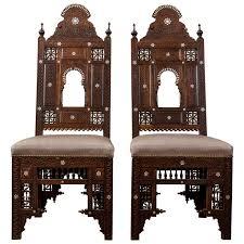 moorish style furniture. pair of moroccan north african chairs moorish style furniture c