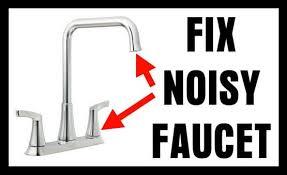 fix noisy faucet water hammering