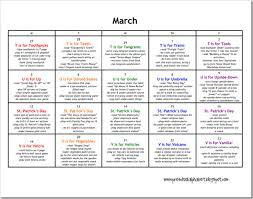 Lesson Plans Calendars March Lesson Plan Calendar Of Ideas Lesson Plans For