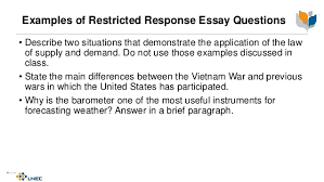 essay question construction  response essay question 8