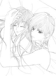 Perfect Anime Couple Coloring Pages 20 In Gallery Coloring Ideas ...