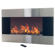wall mount electric fireplace heater. Amazon.com: Stainless Steel Electric Fireplace With Wall Mount And Remote, 36 Inch By Northwest: Home Improvement Heater L