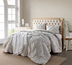 King Comforter for King Size Bed Comforter Oversized Bedspread ... & Silver Birch Pin Tuck King Comforter - Oversized King XL Bedding Adamdwight.com