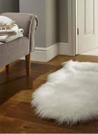 faux fur white cream area rug