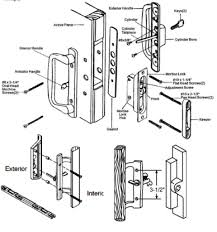 sliding patio door parts all handles