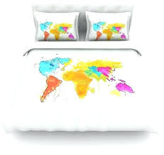 oriana cordero world map rainbow white cotton duvet cover twin 68 patchwork world map duvet cover