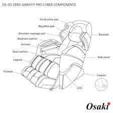 chair massage drawing. osaki 3d pro cyber massage chair components drawing