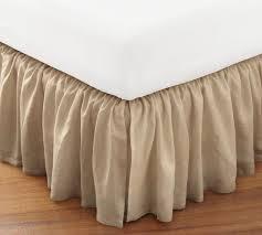 linen bedskirt king.  King Flounced Linen BedSkirt King Sandalwood To Bedskirt King M