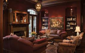 Luxurious Living Rooms elegant brown leather sofas with spotlights ceiling decors in open 4439 by xevi.us