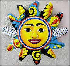 >hand painted metal sun wall hanging tropical metal garden and  hand painted metal sun wall hanging tropical metal garden and patio art handcrafted in haiti from recycled steel to see more tropical designs