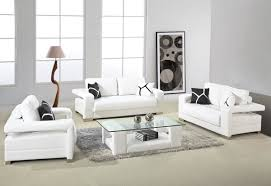 White Living Room Set Extraordinary White Leather Living Room Set For Your Home