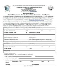 Example Incident Report Writing And Ty Guard Sample Letter