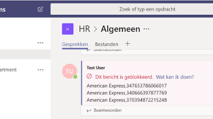 Dlp Office 365 Data Loss Prevention In Microsoft Teams Peter Klapwijk