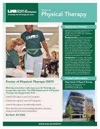 uab shp department of physical therapy school of health dptprogramflyer2016 page 1