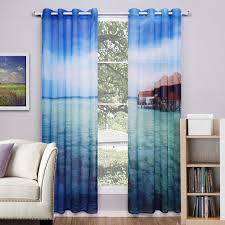 Sheer Curtains Living Room Aliexpresscom Buy Modern Style Scenic Window Curtains Living