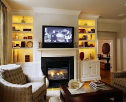 fireplace mantel lighting. bookcase lighting ideas living room traditional with glass coffee table tv above fireplace wood trim mantel