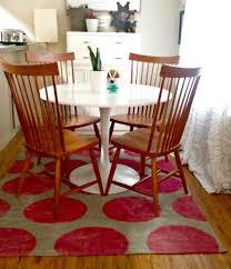 dining room pink polka dot rug awfully big adventure