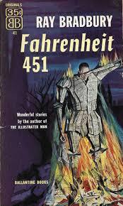 first paperback edition of fahrenheit 451 cover ilration by joe mugnaini