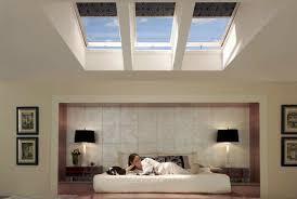 Beautiful Bedroom Design Ideas With Table Lamp Also Drawer And Velux