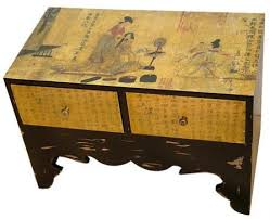 traditional calligraphy two drawer chest asian style furniture asian style furniture korean antique style 49