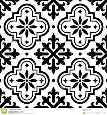 Black And White Pattern Tile