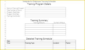 New Employee Training Program Template Training Program Template