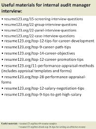 Internal Auditor Resume Objective Internal Control Manager Resume Accounting Manager Resume To Get 85