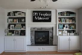 how to build in bookcases around fireplace