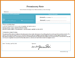 5 Promissory Note Template Word Memo Templates