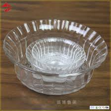 large clear glass salad bowl crystal glass fruit bowl