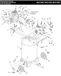 C bell hausfeld wl611103aj wl611003 wl611200 air pressor parts wl371500aj pump motor capacitors wiring diagram