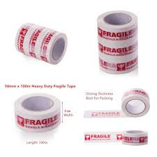 【READY STOCK MALAYSIA】100 Meter <b>x 5 CM</b> FRAGILE Red ...