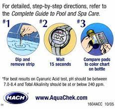 Aquachek Select Color Chart Aquachek 541604a Select Kit Test Strip For Swimming Pools