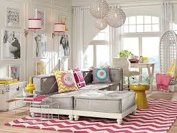 teenage lounge room furniture. beautiful teen girls lounge room decorating by pottery barn with pink chevron rug and unique pendant teenage furniture l