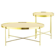 brass furniture. Chloe Round Coffee Table - Champagne Image 2 Brass Furniture