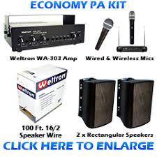 sound system kit. economy pa sound system kit d