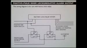 how to wire a positive type door locking system car alarm how to wire a positive type door locking system car alarm outputs