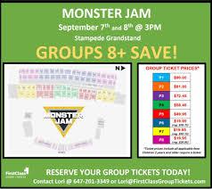 Monster Jam Calgary Stampede Grandstand First Class