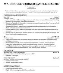 warehouse worker resume sample resume companion warehouse resumes